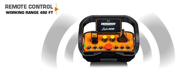 robomini - remote control - mower - working range - energreen america professional machines