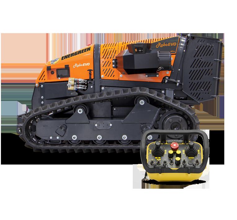 roboevo - remote controlled mulcher - energreen america professional machines