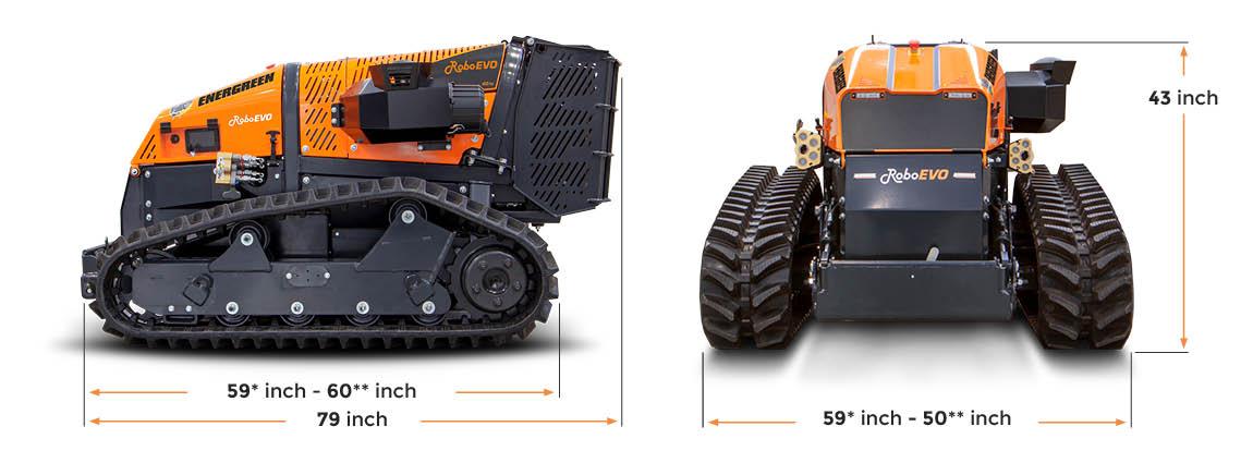 roboevo - dimensions - energreen america professional machines