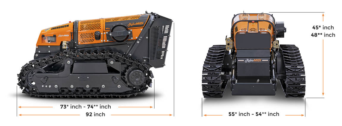 robomidi - dimensions - energreen america professional machines