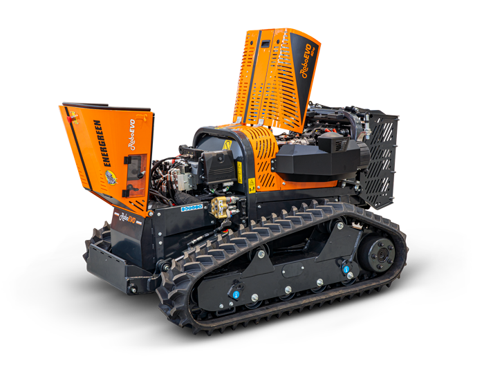 roboevo - components quality - remote controlled mower - energreen america professional machines