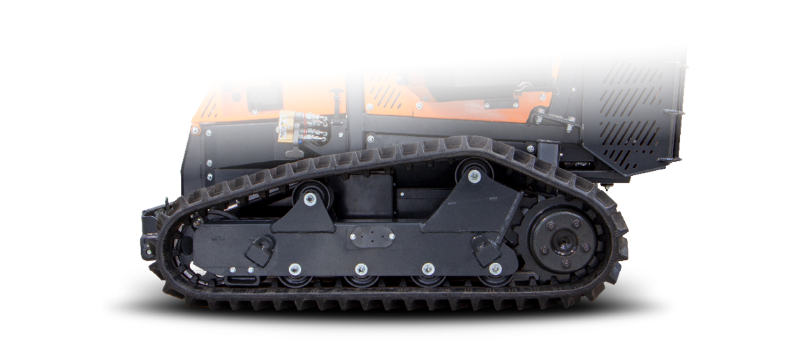 roboevo - new tracks profile - remote controlled mower - energreen america professional machines