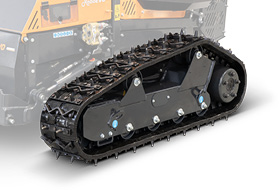 roboevo - studded tracks and spikes - remote controlled mower - energreen america professional machines