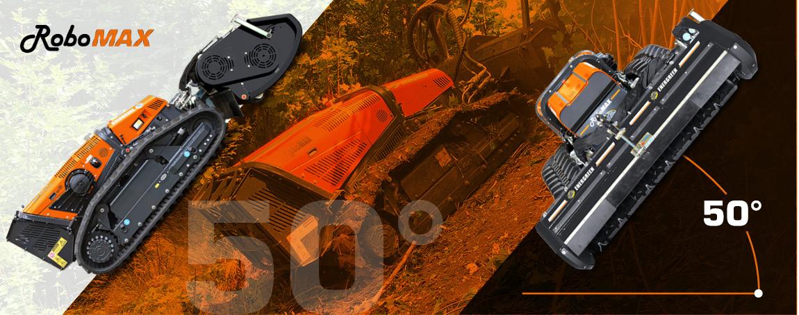 robomax - forestry mulcher - maximum slope - energreen america professional machines