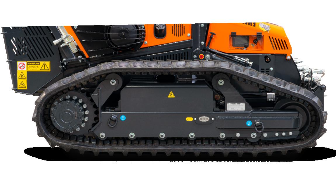 robomax - forestry mulcher - tracks profile - energreen america professional machines