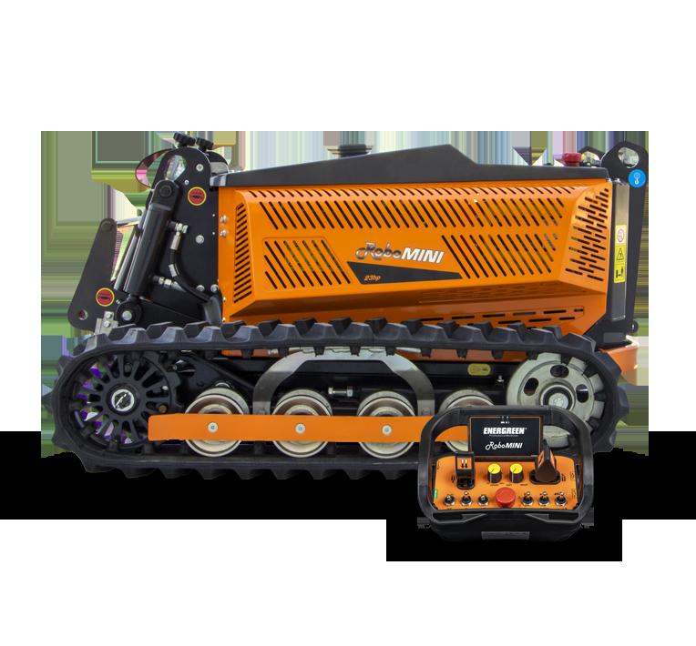 robomini - remote controlled mower - energreen america professional machines