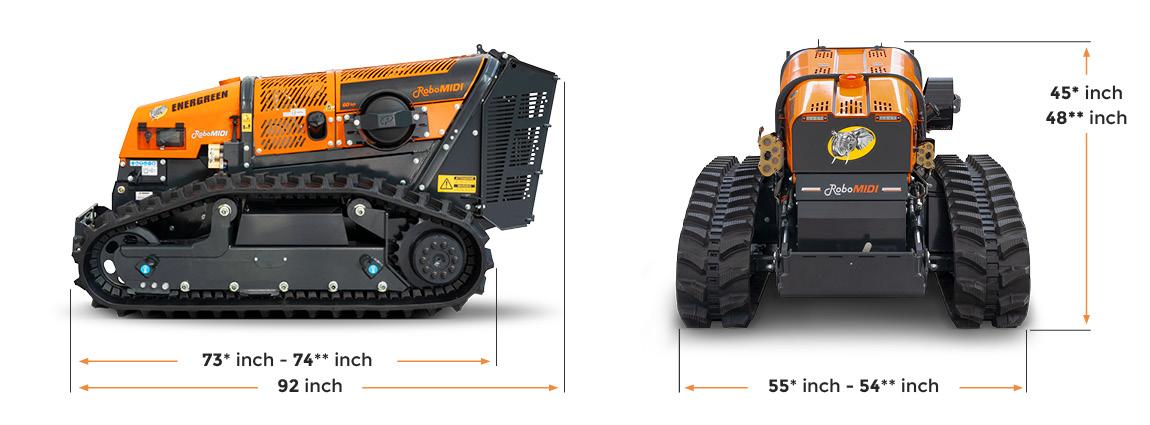 robomidi - dimensions - multifunction tools carrier robo - energreen america professional machines
